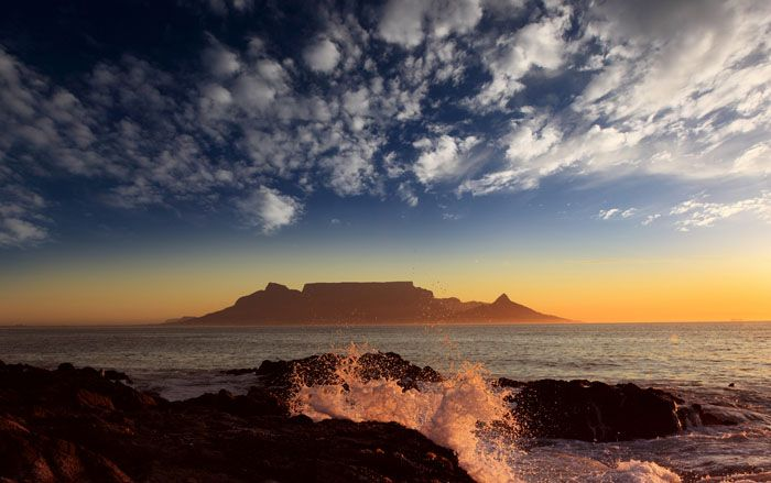 Table Mountain, South Africa #destination #sunset