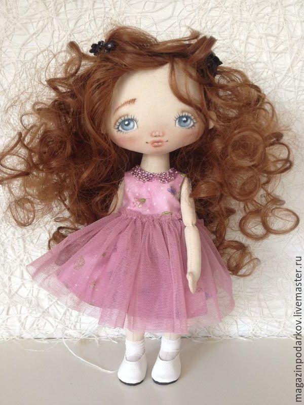 Купить Кукла малышка Аля - брусничный, кукла ручной работы, кукла в подарок…