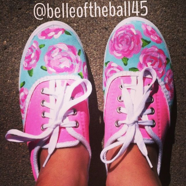 The DIY Lilly shoes I made :) follow @belleoftheball45 on Instagram!
