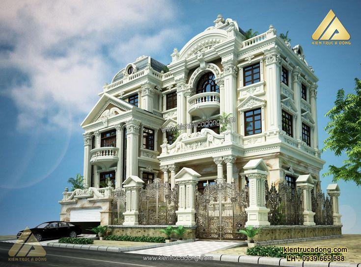 Mẫu thiết kế nội thất đẹp theo phong cách cổ điển sang trọng http://www.kientrucadong.com/mau-nha-dep-thiet-ke-biet-thu-co-dien-tp-hai-phong-657-100.html
