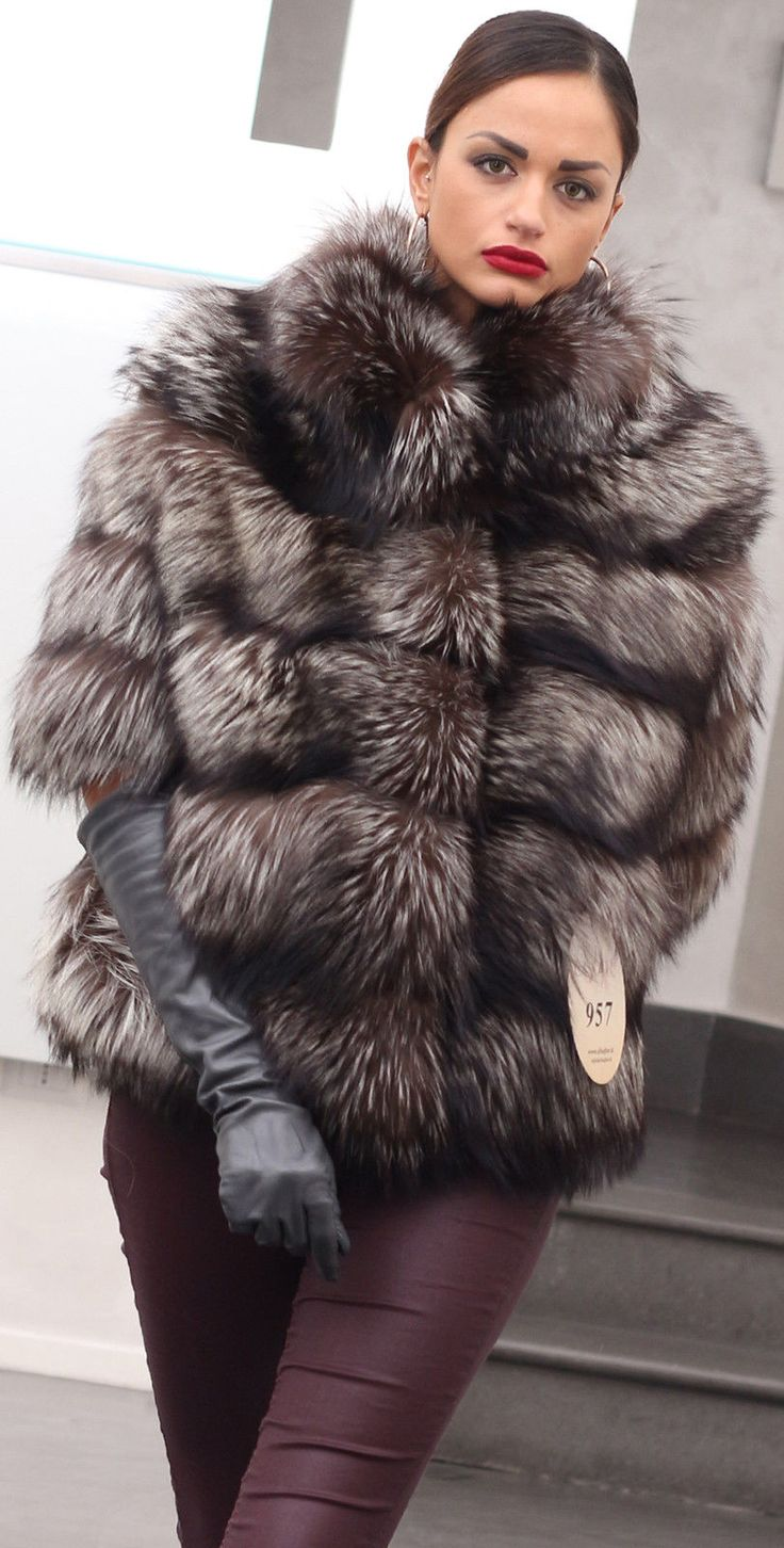 Fur Coat Jacket Silver Fox Milano Fashion Pelze Pelzmantel Fuchs Volpe ЛИСА МЕХ | eBay