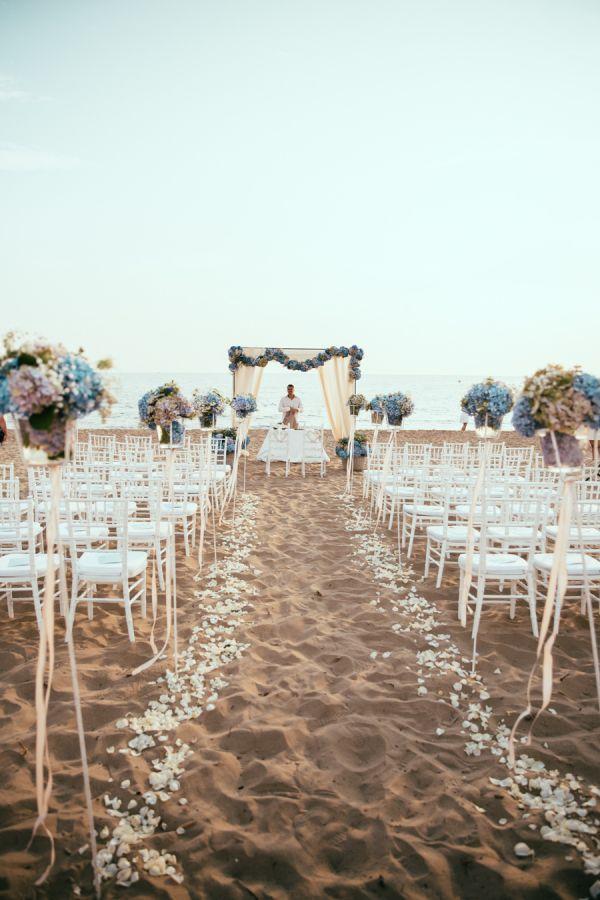 Décoration pour un mariage à la plage - la cérémonie