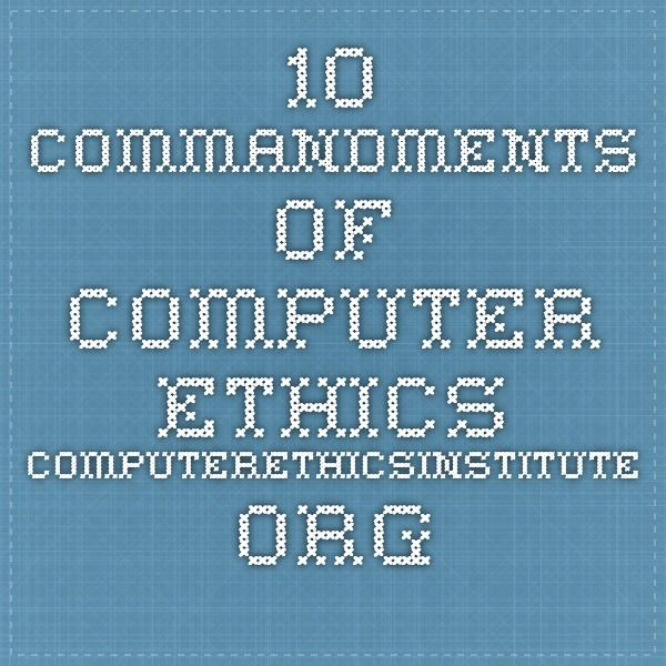 Best 25+ Computer ethics ideas on Pinterest Internet network - ten resume writing commandments
