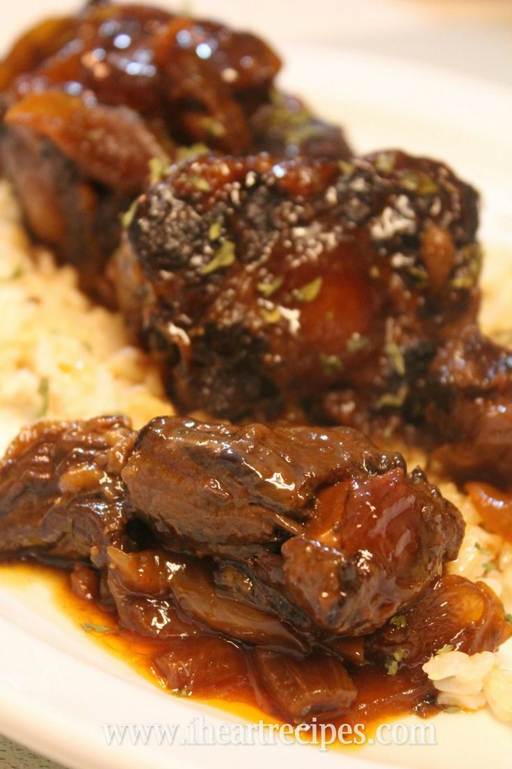 Barbecue Oxtails made in the slow cooker.