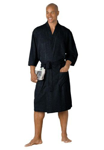Mens cotton jersey robes