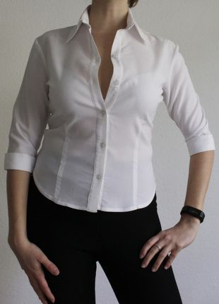 Kaufe meinen Artikel bei #Kleiderkreisel http://www.kleiderkreisel.de/damenmode/blusen/126350298-weisse-leicht-durchsichtige-bluse-von-ca