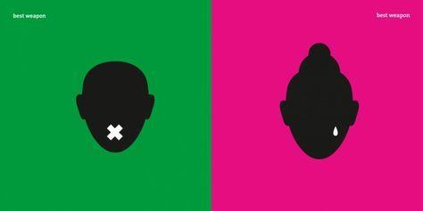 1 Imágenes creadas por la diseñadora Yang Liu sobre los estereotipos de género.  MEJOR AMA SEGUN EL GENERO