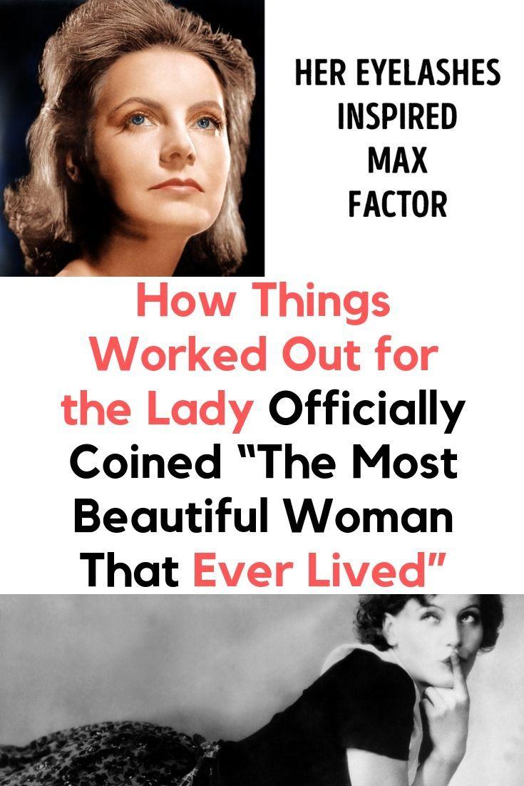 """Wie es für die Dame lief Offiziell geprägt """"Die schönste Frau, die je gelebt hat""""    – Diy/Lifehacks"""
