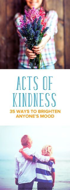 Ideas of acts of kindness you and your kids can do for different people in your lives. These random acts of kindness can brighten the moods of your loved ones, from school to family and friends. Try one and see the difference!