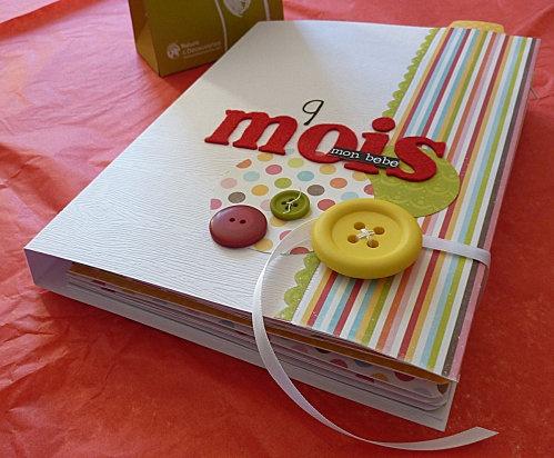 Super idée de mini pour un nouveau né! http://www.lesetoilesduscrap.com/article-anne-album-9-mois-109284208.html