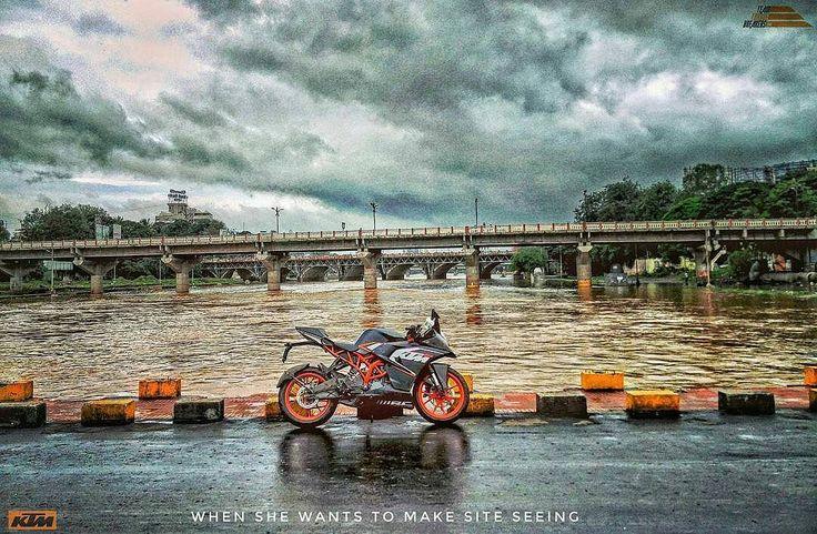 #Repost @ktmrcbiker  पण तथ कय उण  #ktm #site #seeing #clouds #skyporn #nature #RC200 #TeamTorqueBreakers #RC390 #flood #bridge #monsoon