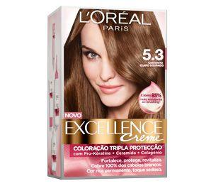 Excellence Creme 5 3 Castanho Claro Dourado Hair Color