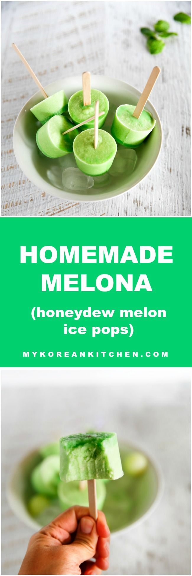 Make a popular Korean popsicle – Melona bar from your home! It takes less than 10 minutes to assemble! Easy & delicious! | MyKoreanKitchen.com