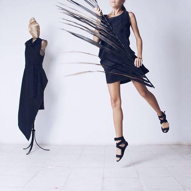 An effortless outfit!  Stonewashed effect short silk dress. ▪️Worldwide shipping - www.kinoconcept.com ▪️Russia only - www.kinoconcept.ru #kinoconcept#littleblackdress