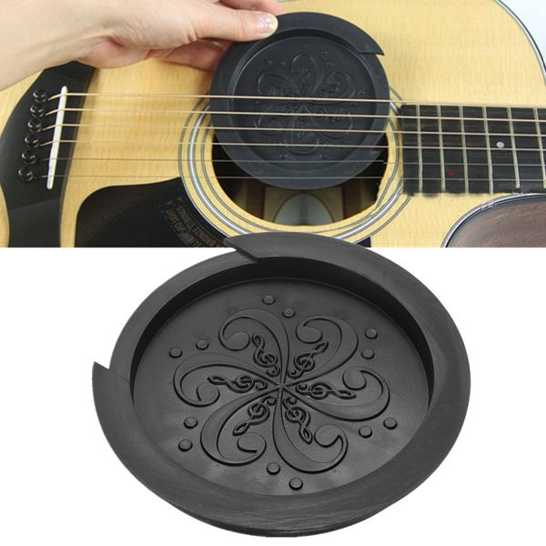 Black Rubber Sound Hole Cover Buffer Protector For 40 41 Inch Acoustic Guitar Guitar Acoustic Guitar Acoustic