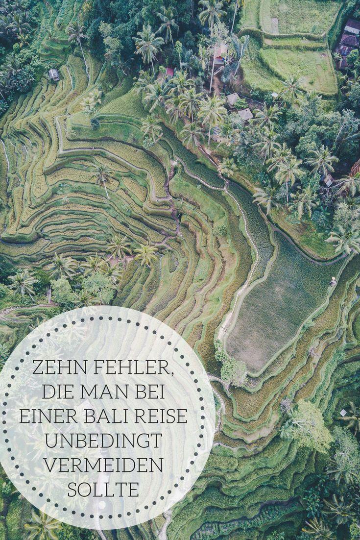 Zehn Fehler, die man bei einer Bali-Reise vermeiden sollte