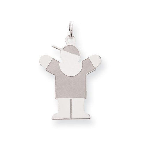 Sterling Silver Love Kid Charm Real Goldia Designer Perfect Jewelry Gift goldia. $25.24