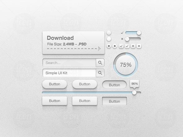 Simple UI Kit - Icon Deposit