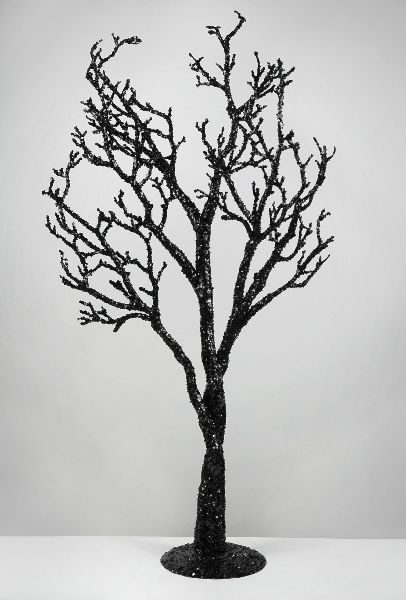 black glitter tree - Black Halloween Tree