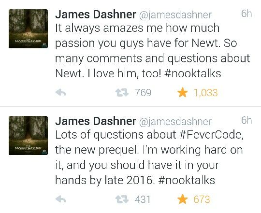 James Dashner on The Fever Code and Newt | The Maze Runner ...