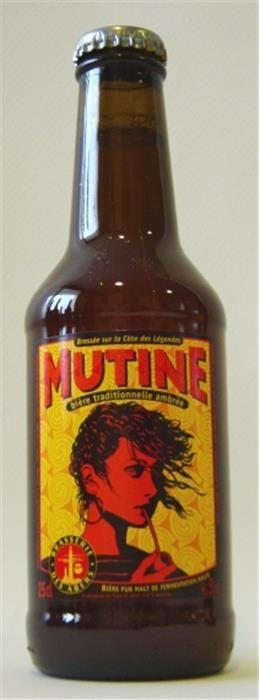 Mutine ambree / Cerveza frances de tipo American Amber - Red Ale / Alcohol 5% / BA SCORE -