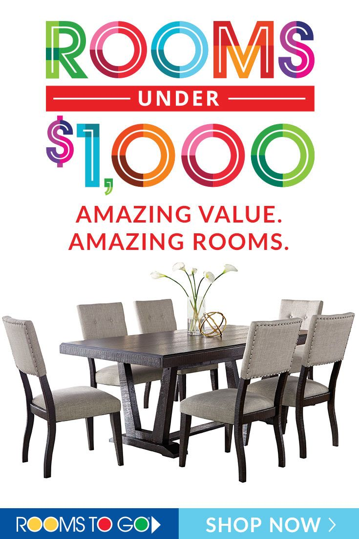 Gather In Your New Dining Space For Under 1 000 From Modern To Rustic Rooms To Go Has All Of The S Affordable Furniture Stores Furniture Sale Home Furniture