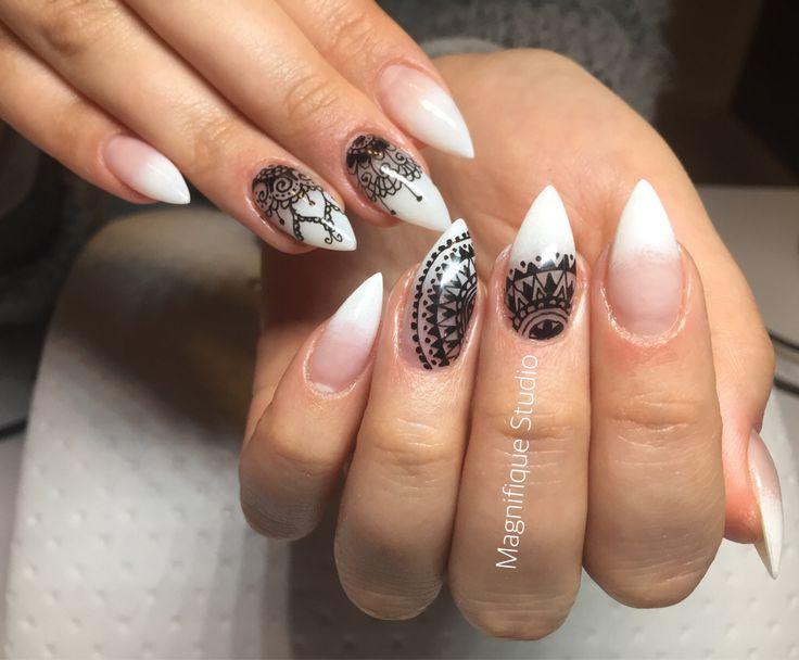 Babyboomer n gel mit rapidograph design nails nails for Pinterest nageldesign