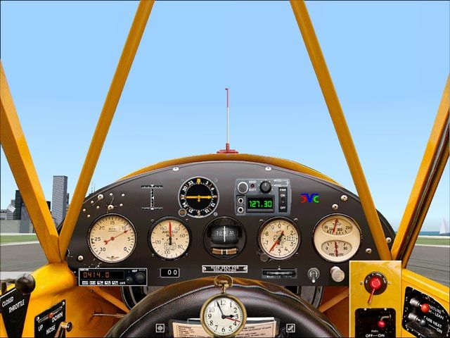 Piper J3 Cub Panel {no instruments to trust}.for seat-of-the-pants flying