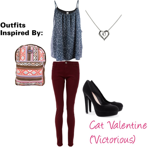 """Outfits Inspired By: Cat Valentine (Victorious)"" by guardingangels on Polyvore"