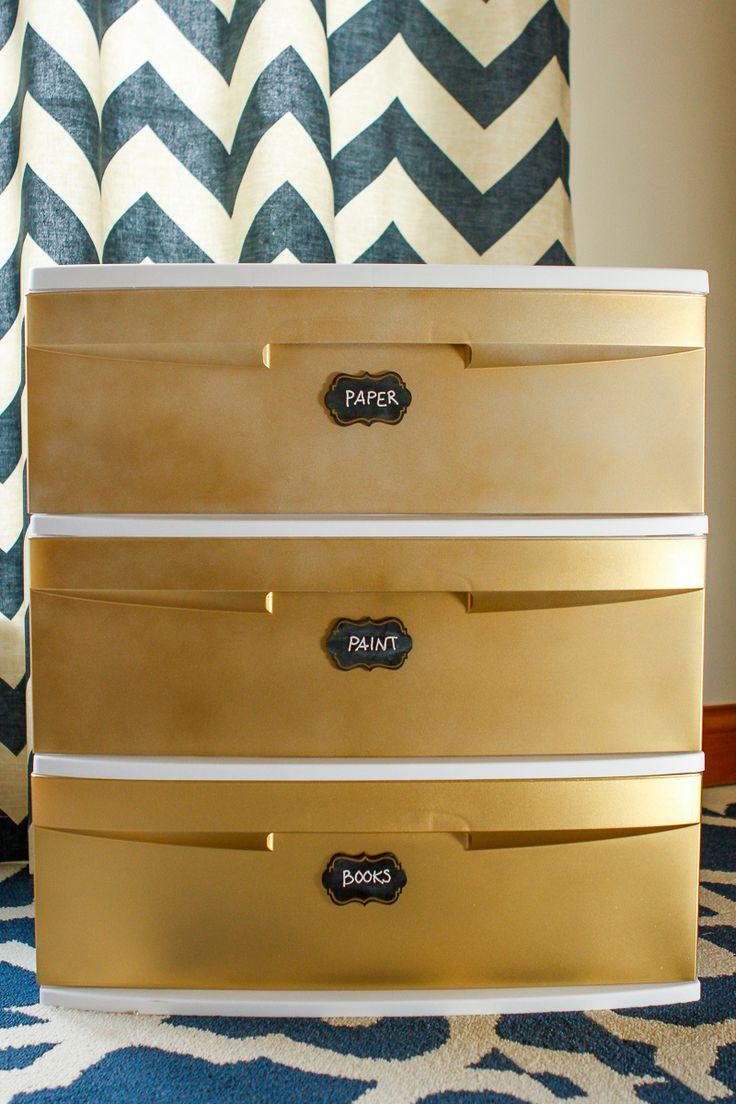 Decorate Plastic Storage Drawers Cart