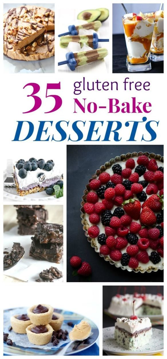 35 Gluten Free No Bake Dessert Recipes - cakes, pies, cookies, bars, popsicles, ice cream, and more, and you don't even have to turn on your oven!   cupcakesandkalechips.com