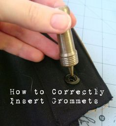 I know that putting grommets on something SOUNDS simple enough, but you'd be surprised by how much controversy there is on the topic on...