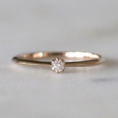 ROSETINUM 一粒ダイヤのシンプルリング 結婚指輪・ジュエリー SIENA - Fashion