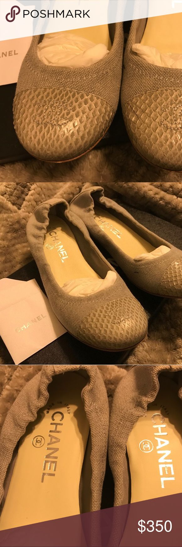 100% Authentic Chanel Ballerina Flats 100 % Authentic Chanel ballerina flats.. Rarely worn, (too small for me) Soles have very minor scuffs. Please note please ensure the sizing is appropriate for you prior to purchasing as european conversions are not always accurate. Missing shoebox , dust-bag included.... Final Sale CHANEL Shoes Flats & Loafers