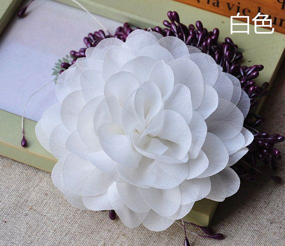 От белого шифон розетка, Шикарный шифон розовыми цветами, Букет, Шифоновая ткань цветы, Кутюр украшение, Sh005ow
