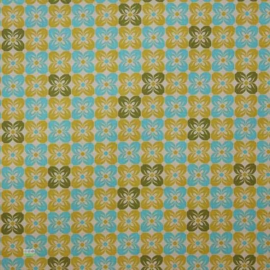 Square Petals in Citron cut as Fat Quarter