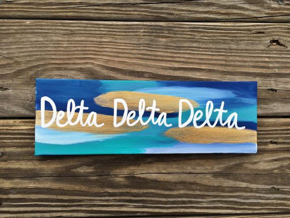 Sorority Canvas // Made to Order & Customizable by ErikaLynnDesign