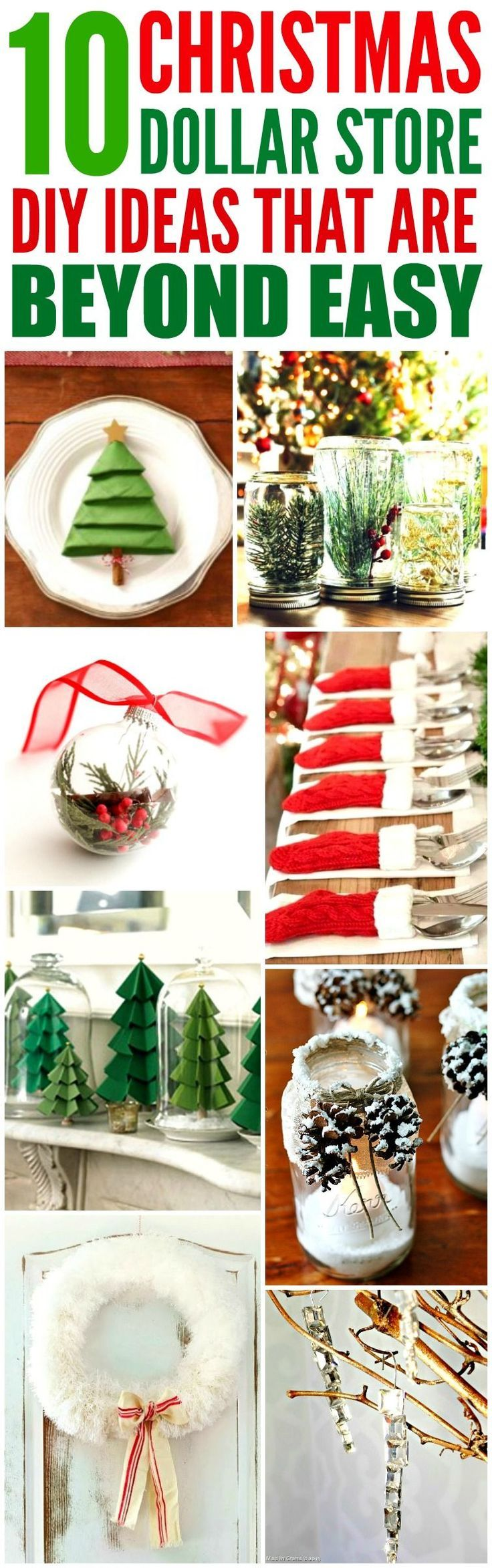 10 Dollar Shop DIY Christmas Decorations Easy – # 10DollarShop #the #DIYChristmas Decorations #dollar #simple #sind