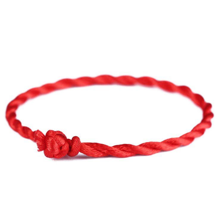 New Men Bracelet Red Rope Bangle Lucky Bracelets on the Leg for Women Cord String Line Handmade Jewelry For Couple Lover Gift