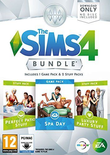 The Sims 4 DLC Bundle Pack 1 Spa Day/Luxury Party/Perfect Patio PC Game Download Origin Key Global for only $29.95.  #videogames #deals #gaming #awesome #cool #gamer