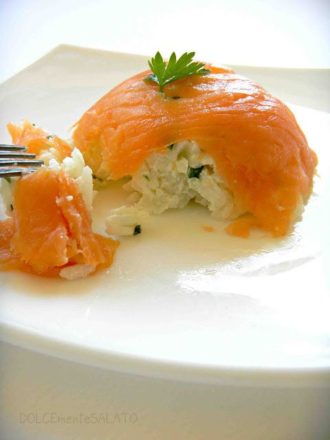 DOLCEmente SALATO: Cupole di salmone con riso cremoso