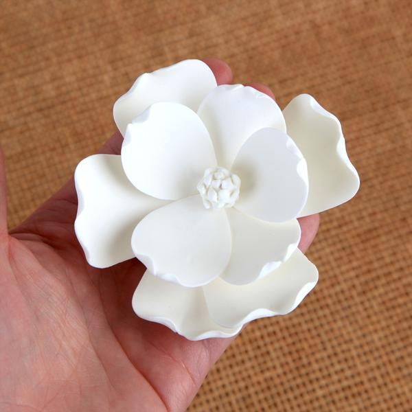 Medium Magnolias White Flower Cake Toppers Types Of Wedding Cakes Flower Cake