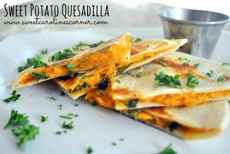 Sweet Caroline's Corner: Sweet Potato Quesadilla (Quesadilla de Batata Doce)