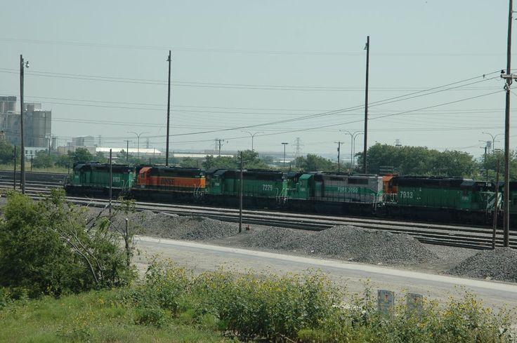 The BNSF Yard in Saginaw Texas