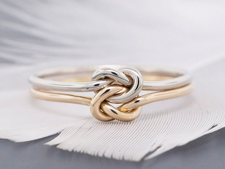 14k gold ring, engagement ring, promise ring, wedding ring, double love knot ring, solid gold ring, 16 gauge by TDNCreations on Etsy https://www.etsy.com/listing/208280419/14k-gold-ring-engagement-ring-promise