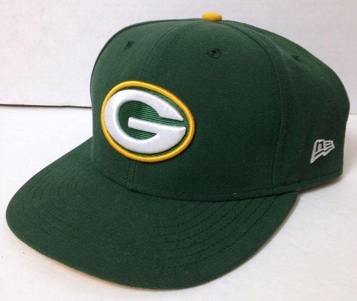 Fitted-Size-8 GREEN BAY PACKERS HAT Dk-Green NEW ERA 59FIFTY Flat Bill Men/Women #NewEra #GreenBayPackers
