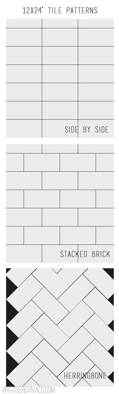 12x24 tile pattern