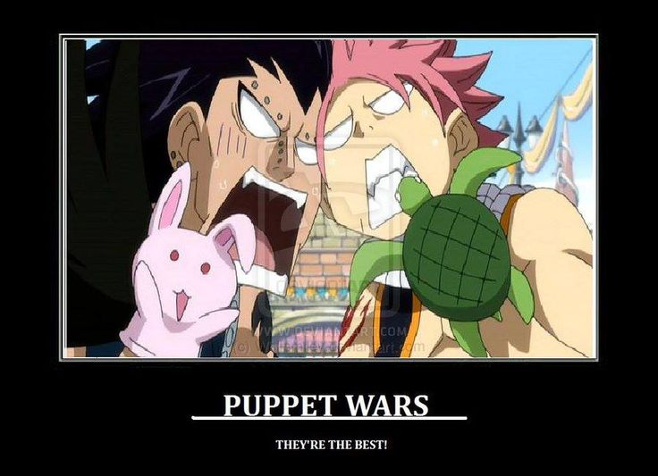 When a dragon slayer hates another dragon slayer the only way to properly deal each other is with puppets.