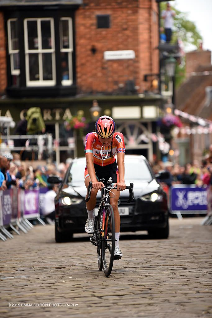 Seconds after Lizzie Armitstead crossed the finish line. Realisation she was National Champion!