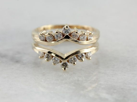 Diamond Solitaire Enhancer Band in Yellow Gold by MSJewelers